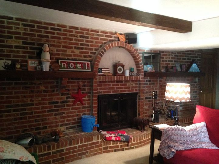 ideas to decorate a very long fireplace, fireplaces mantels