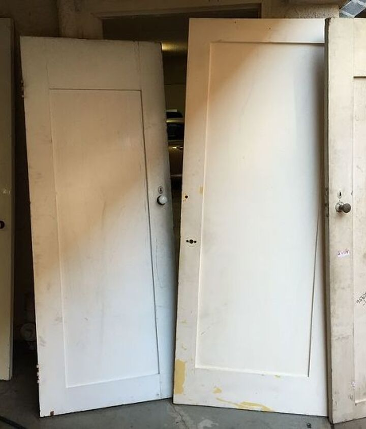 he turned these salvaged doors into something amazing, doors, repurposing upcycling, storage ideas, woodworking projects