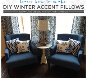 Learn How To Make Diy Winter Accent Pillows Hometalk