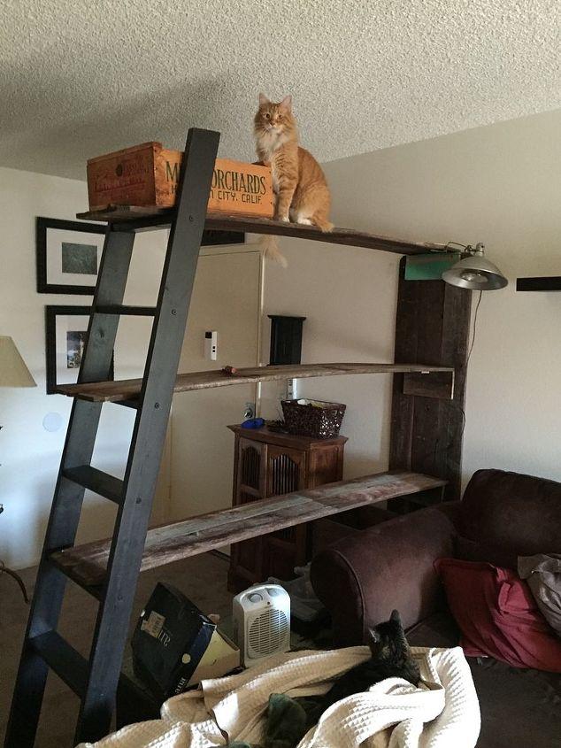 Repurposed Ladder And Wooden Fence Slats   Hometalk