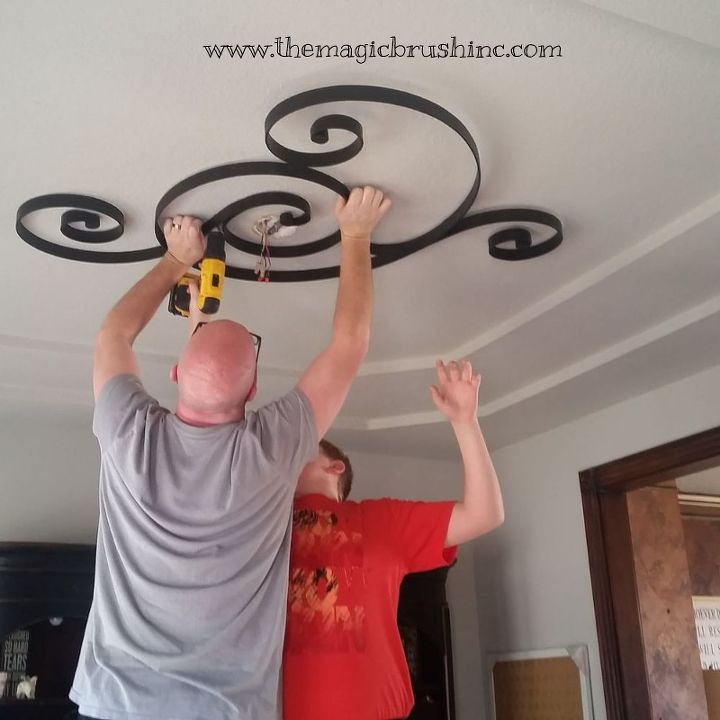 Non-traditional Ceiling Medallion | Hometalk