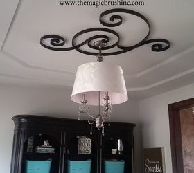 Pottery Barn Wall Art Turned Ceiling Medallion, Dining Room Ideas,  Repurposing Upcycling, Wall