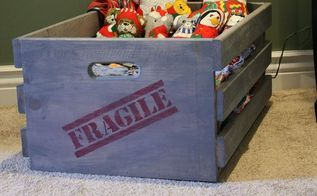 diy wood crate, diy, home decor, woodworking projects