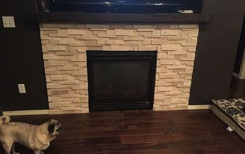 diy mantle for 20 bucks, fireplaces mantels, painted furniture