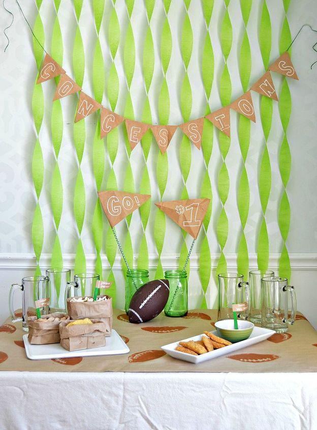 dollar store super bowl party decor gametime, crafts, seasonal holiday decor