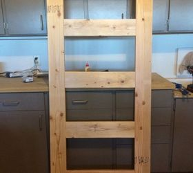 how to build a leaning door shelf when you don t have an old door : build door - pezcame.com