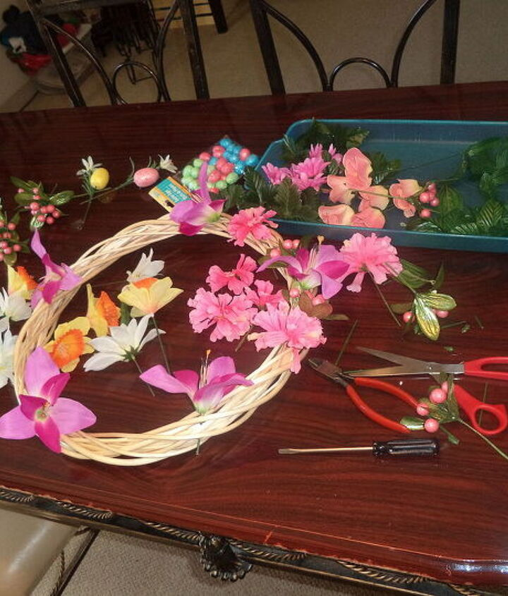 my diy spring easter summer wreath, crafts, easter decorations, seasonal holiday decor, wreaths