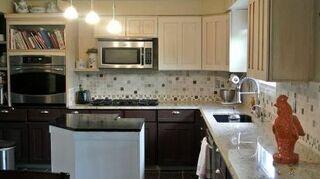 q what color backsplash shoud i go with, countertops, home decor, kitchen backsplash, kitchen design, tiling