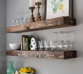 Dining Room Storage With Floating Shelves, Diy, Organizing, Shelving Ideas,  Storage Ideas