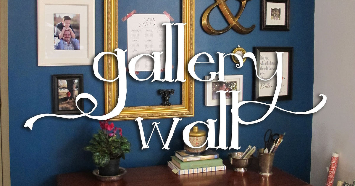 home office dark blue gallery wall. Home Office Dark Blue Gallery Wall I