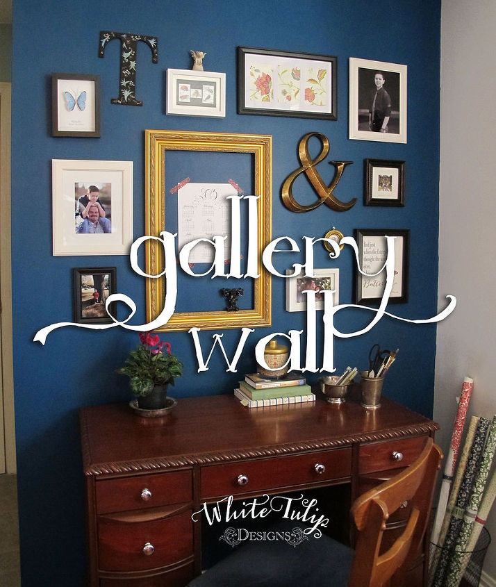 Home Office Dark Blue Gallery Wall Painting Decor