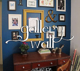 Home Decor Gallery Part - 23: Home Office Dark Blue Gallery Wall, Home Office, Painting, Wall Decor