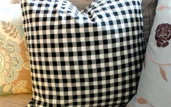 Black N White Check Pillows from a tablecloth