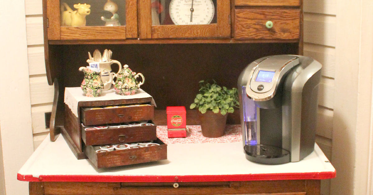transform old kitchen cabinets transform an antique cabinet into a coffee station hometalk 27292
