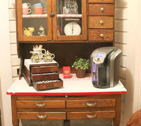 Medium image of transform an antique cabinet into a coffee bar kitchen cabinets kitchen design repurposing