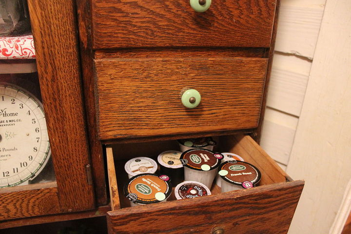 transform an antique cabinet into a coffee bar, kitchen cabinets, kitchen design, repurposing upcycling, storage ideas