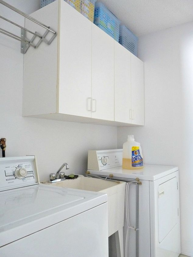 cheater laundry room makeover, diy, home decor, laundry rooms