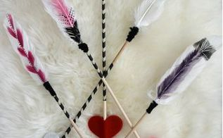 diy valentines arrow through heart, crafts, how to, seasonal holiday decor, valentines day ideas