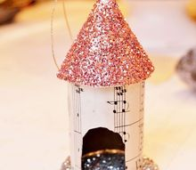 up cycled toilet paper tube birdhouse ornament, christmas decorations, crafts, how to, repurposing upcycling, seasonal holiday decor