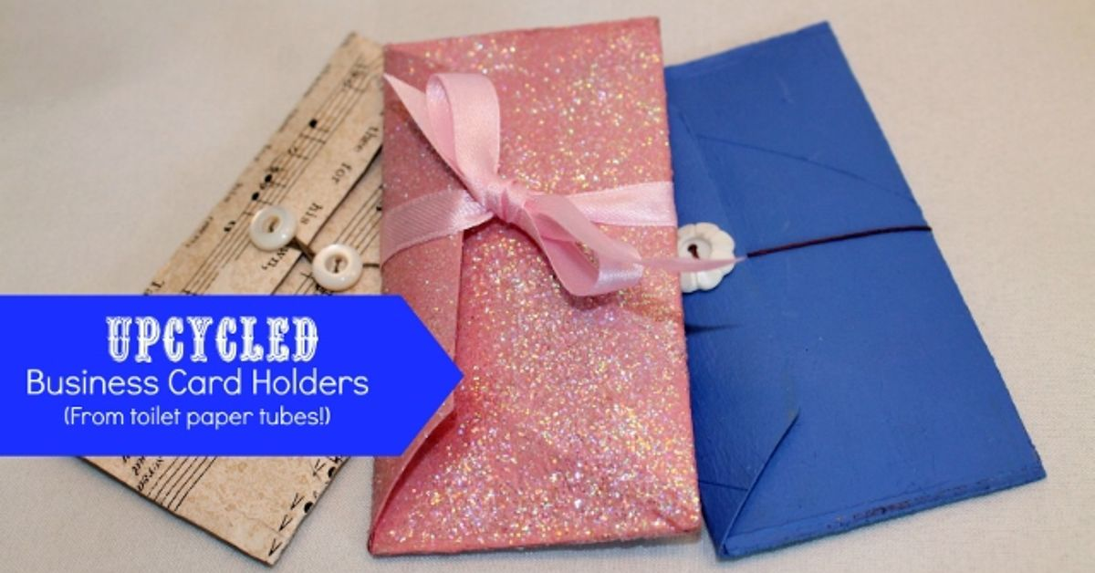 Up-Cycled TP Tube Business Card Holder | Hometalk