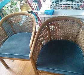 Delicieux Updated Vintage Barrel Chairs, Chalk Paint, Reupholster