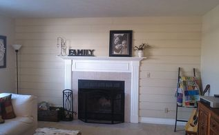 diy super easy plank wall, fireplaces mantels, home decor, how to, wall decor