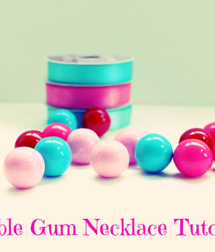 diy girl s bubble gum necklace for valentine s day, crafts, how to, seasonal holiday decor, valentines day ideas