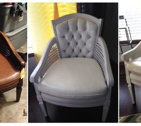 Superbe Spray Paint Vinyl Chair Cushions, Painted Furniture, Repurposing Upcycling,  Ugly Brown Chair Before
