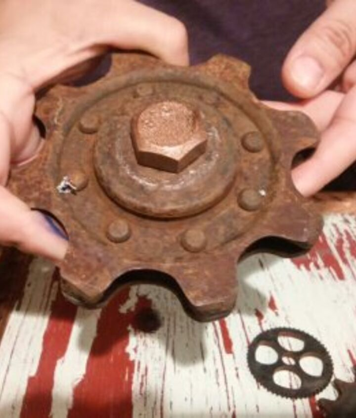 diy steampunk industrial gear art, crafts, how to, repurposing upcycling, wall decor