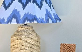 Thrift Store Lamp and Lampshade Makeover