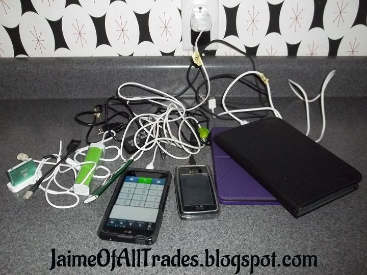 diy charging station with a power strip compartment, crafts, diy, electrical, how to, organizing, woodworking projects