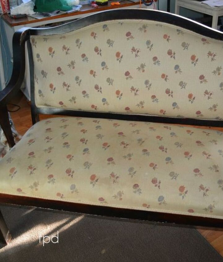 upcycling an old english settee, cleaning tips, living room ideas, painted furniture, repurposing upcycling, reupholster