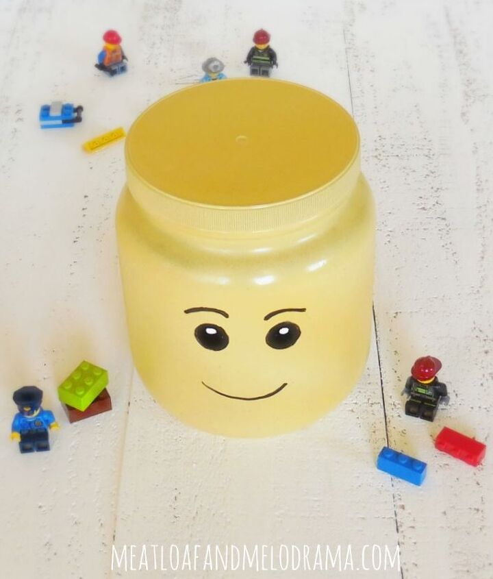 diy lego head organizer, crafts, organizing, repurposing upcycling, storage ideas