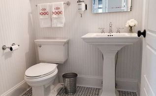 powder room makeover, bathroom ideas, home improvement, how to, small bathroom ideas, tile flooring