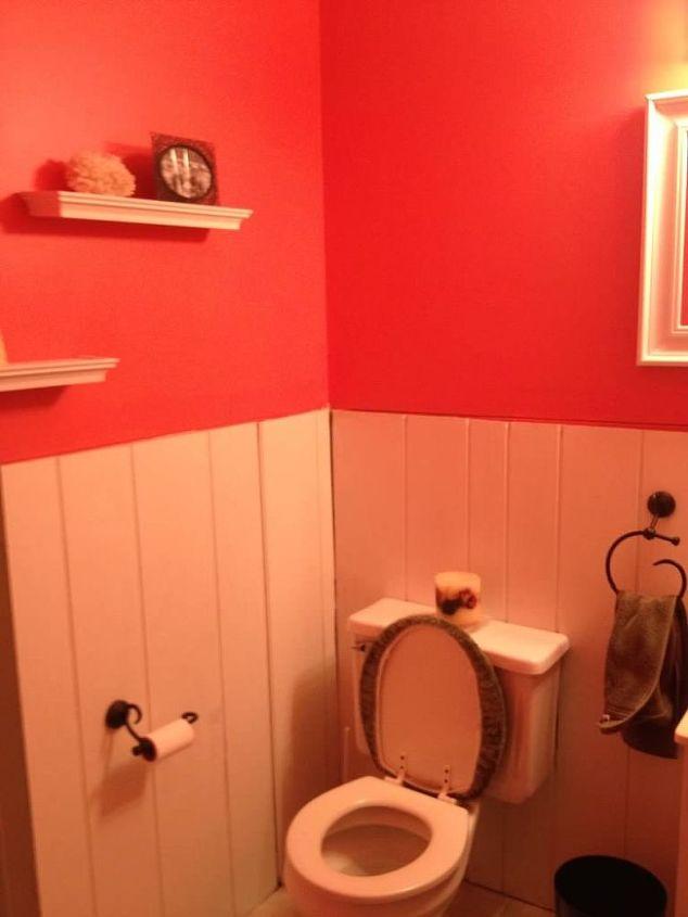 powder room makeover, bathroom ideas, home improvement, how to, small bathroom ideas, tile flooring