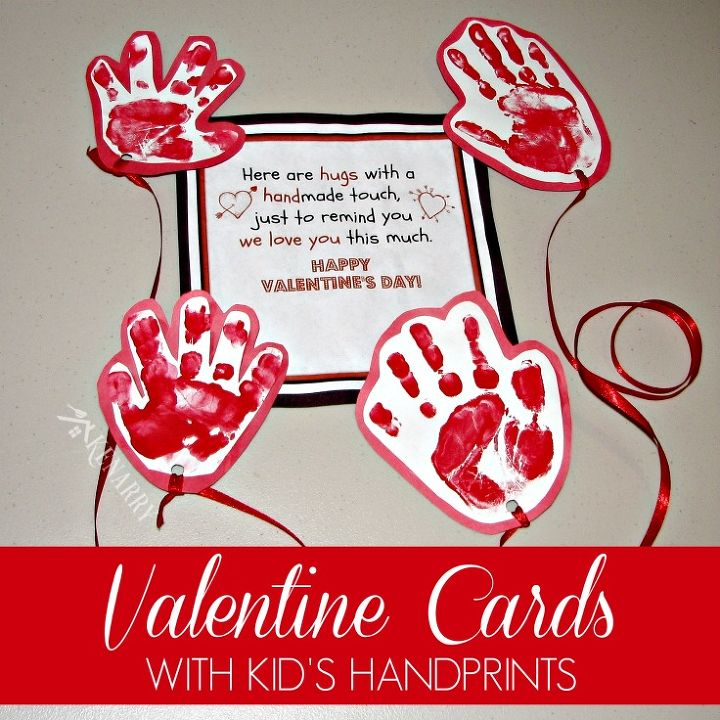 kid s valentine card idea send a long distance hug free printable, crafts, how to, seasonal holiday decor, valentines day ideas