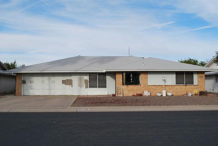 q paint color scheme suggestions for outdoor brick, concrete masonry, curb appeal, painting, roofing, Paint Face lift for Sun City AZ house