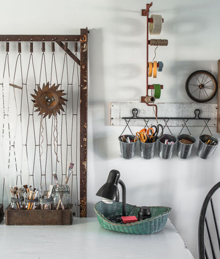 Repurposed craft room on Funky Junk Interiors