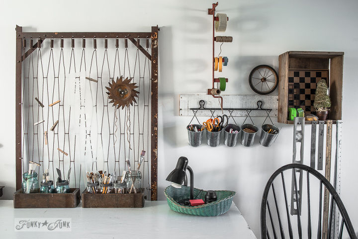 Repurposed craft room on Funky Junk Interiors