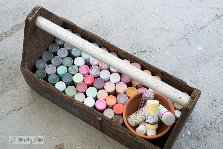 Toolbox craft paint storage