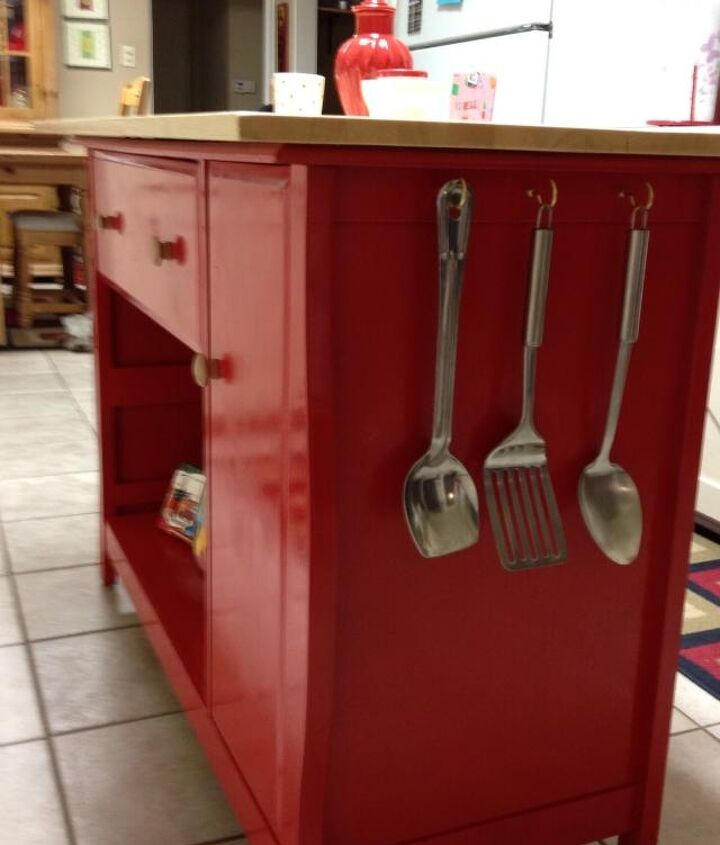repurposed baby changing table to kitchen island, kitchen island, painted furniture, repurposing upcycling