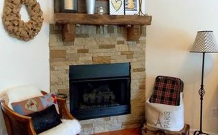 diy fireplace surround using airstone, diy, fireplaces mantels, how to