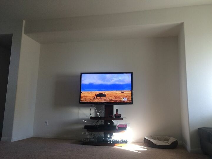 q ideas to decorate a big tv wall, entertainment rec rooms, home decor, living room ideas, wall decor