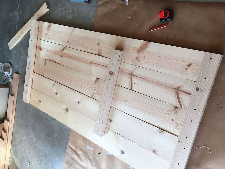 repurposed table turned potting bench, diy, gardening, how to, outdoor furniture, painted furniture, woodworking projects
