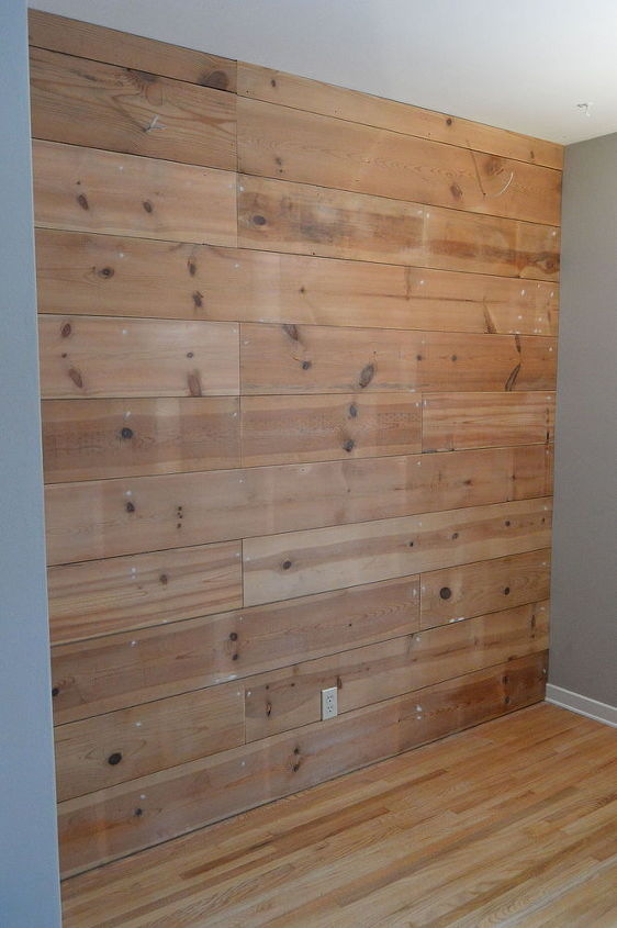 reclaimed wood plank wall, bedroom ideas, painting, wall decor, woodworking projects