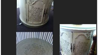 q i just bought this barrel end table from craigs list, chalk paint, painted furniture