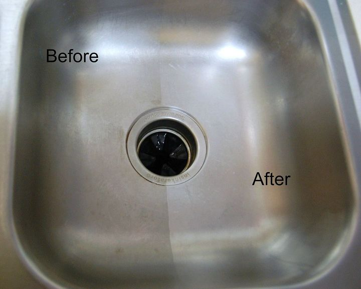 Cleaning a Stainless Steel Sink with Baking Soda and Vinegar ...