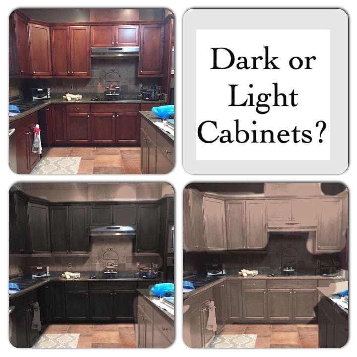 Dark vs. Light Cabinets   Hometalk