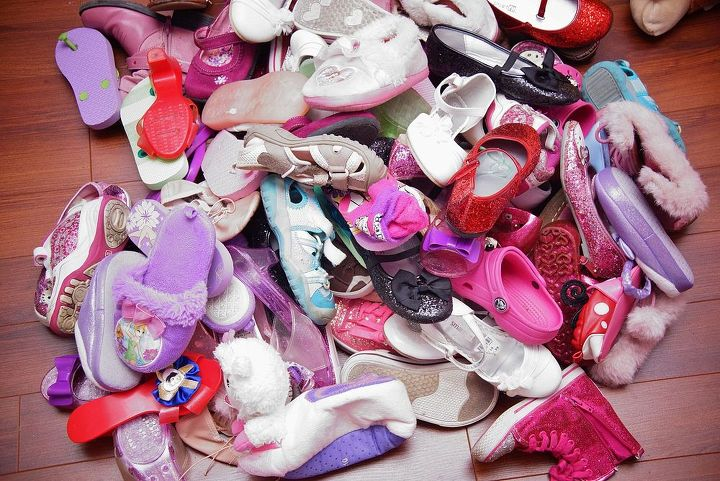 a clever hack to save you from shoe clutter, how to, organizing, repurposing upcycling, storage ideas