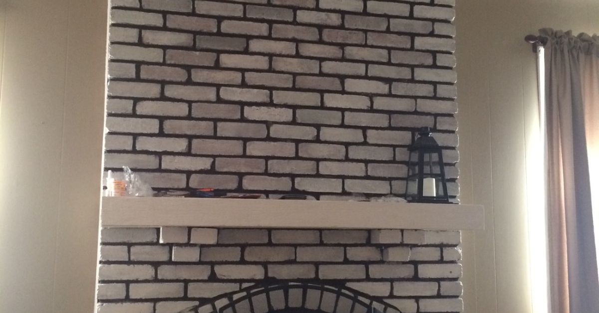 Help Design My White Washed Brick Fireplace Mantle Hometalk